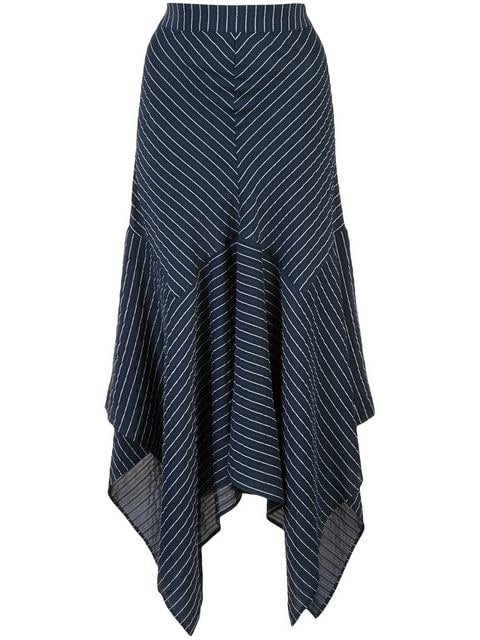 Ganni Lynch Striped Seersucker Skirt - Farfetch