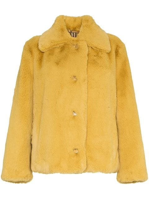 Burberry Faux Fur Single-breasted Jacket - Farfetch
