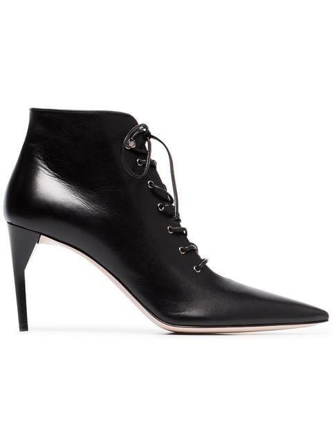 Miu Miu 85 Lace-up Leather Ankle Boots - Farfetch