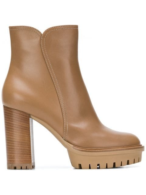 Gianvito Rossi Block Heel Ankle Boots - Farfetch