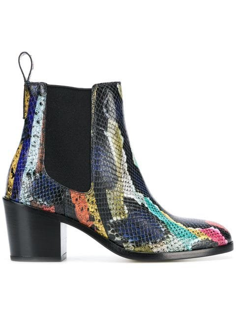 Paul Smith Snakeskin-print Ankle Boots - Farfetch