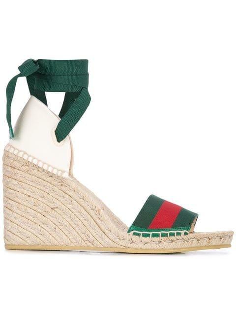 Gucci Beach Wedged Sandals - Farfetch