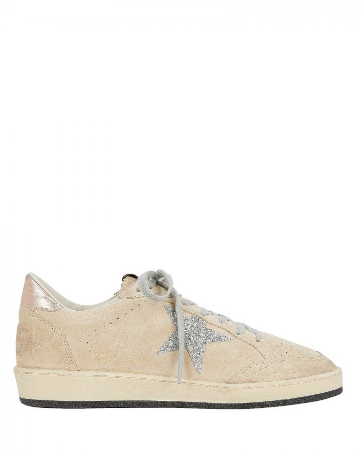 Ball Star Beige Suede Low-Top Sneakers