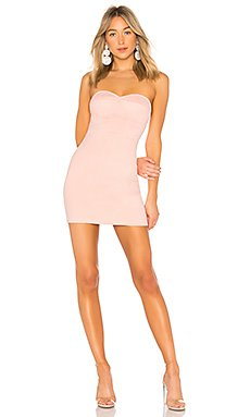 Carla Faux Suede Strapless Dress                                             by the way.