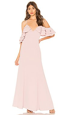 Bell Ruffle Maxi Dress                                             About Us