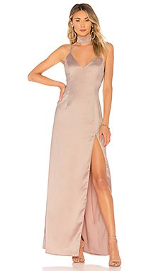 Rylie Choker Maxi Dress                                             About Us