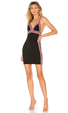 Jo Sporty Trim V Neck Bodycon Dress                                             by the way.