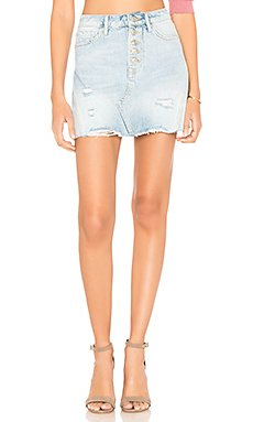 Denim A-Line Mini Skirt                                             Free People