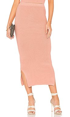 Knit Midi Skirt                                             MINKPINK