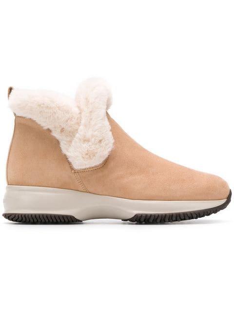 Hogan Shearling Ankle Boots  - Farfetch