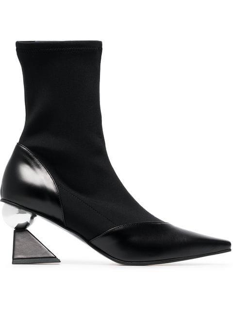 Yuul Yie Black Glam 70 Leather Boots - Farfetch