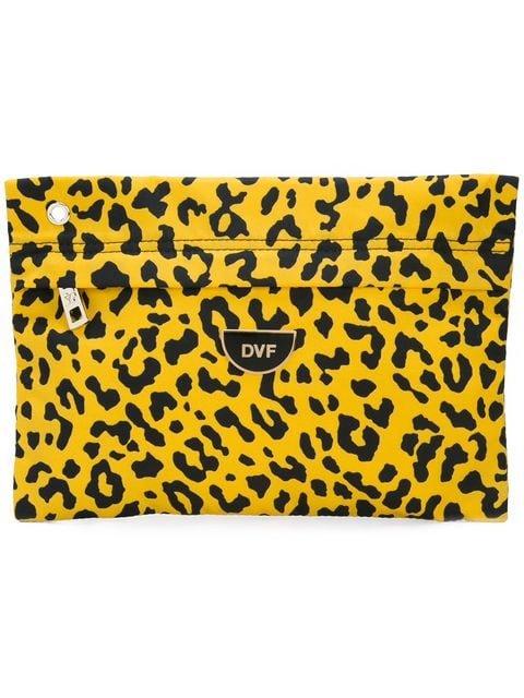 Dvf Diane Von Furstenberg Leopard Print Clutch Bag - Farfetch