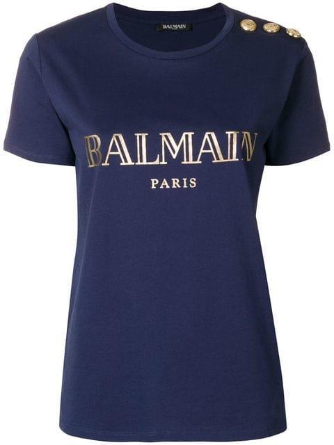 Balmain Logo Printed T-shirt - Farfetch