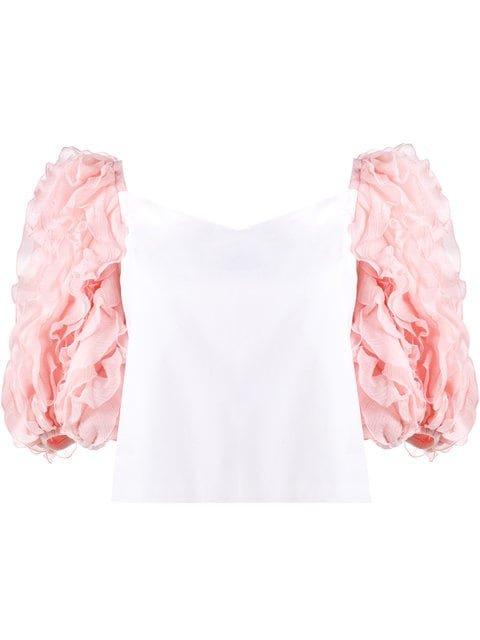 Rosie Assoulin Ruffle Sleeved Blouse - Farfetch