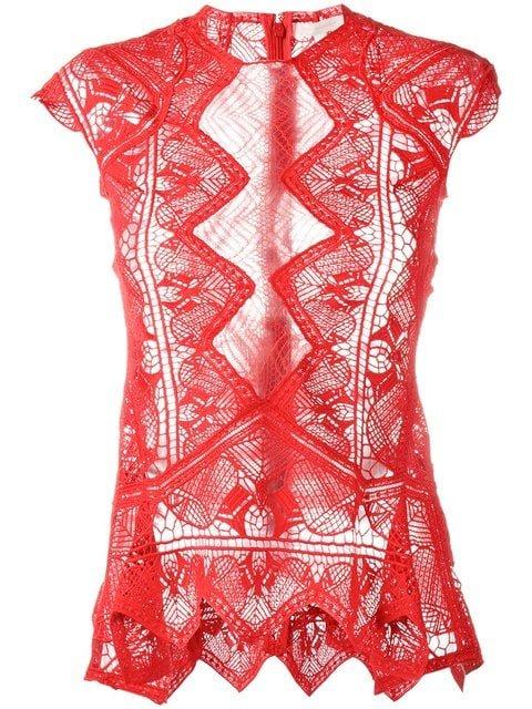 Jonathan Simkhai Sheer Lace Top - Farfetch