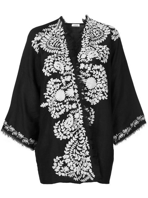 P.A.R.O.S.H. Contrast Embroidered Kimono Jacket - Farfetch