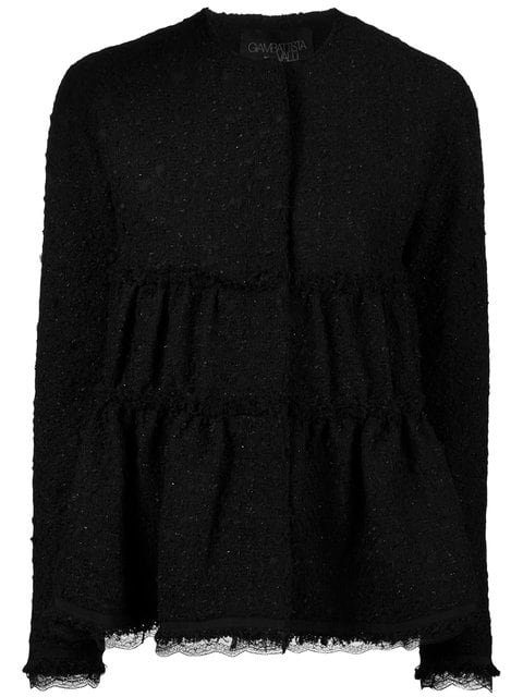 Giambattista Valli Ruched Tweed Jacket - Farfetch