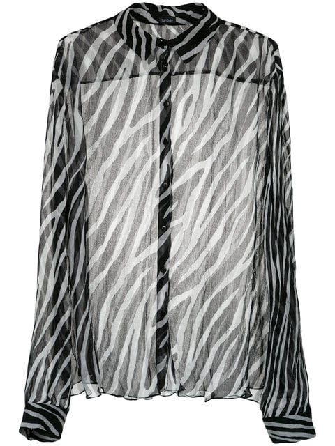 Tufi Duek Animal Print Sheer Shirt - Farfetch