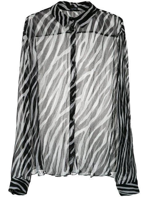Tufi Duek Animal Print Sheer Shirt - Farfetch