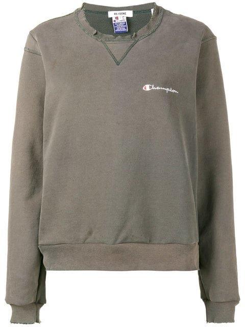 Re/Done Distressed Champion Sweatshirt - Farfetch