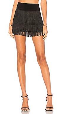 Fringe All Over Shorts                                             Norma Kamali