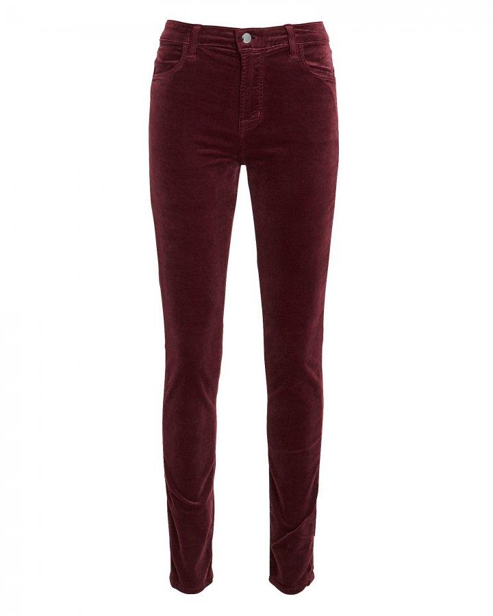Maria Velvet Skinny Pants