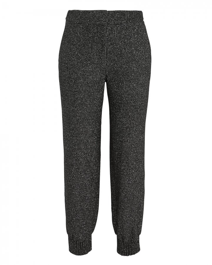Gretta Lurex Tweed Jogger Pants
