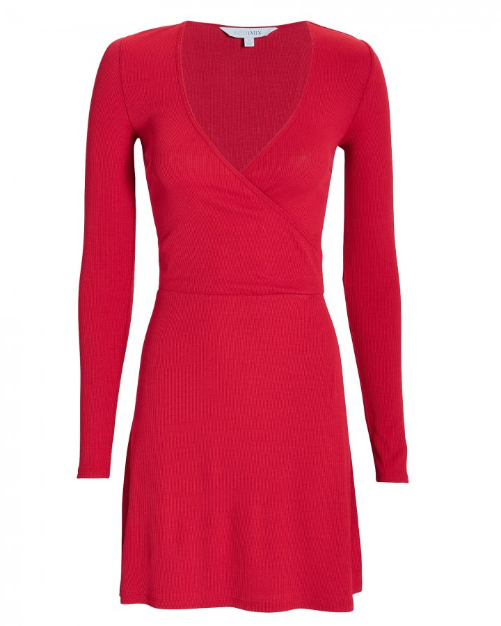 Serena Wrap Front Knit Mini Dress