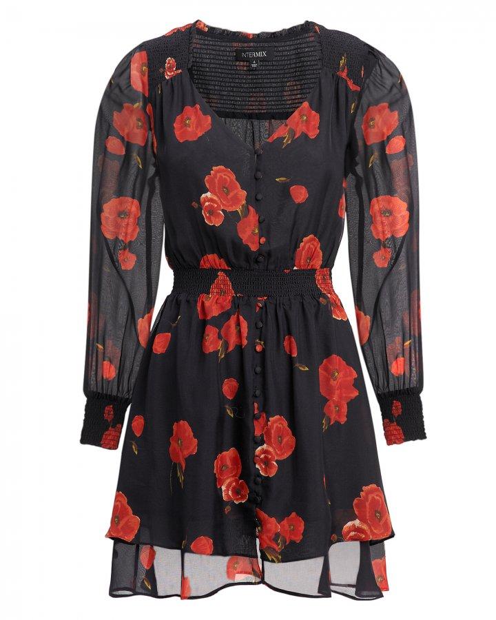 Kayla Floral Print Mini Dress