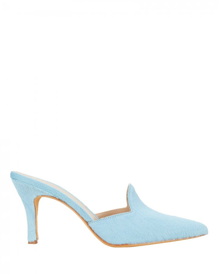 Pierre Haircalf Blue Mules