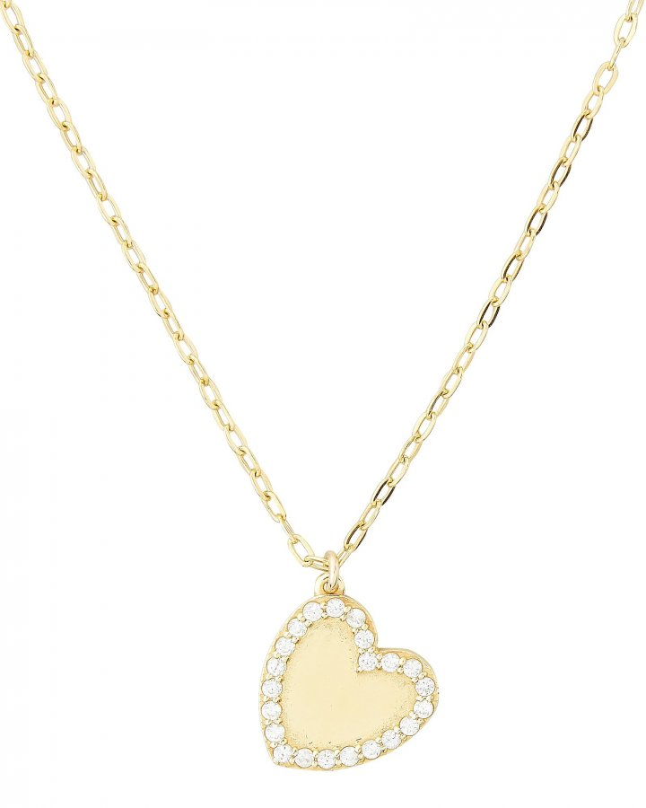 Heart Bezel Pendant Necklace
