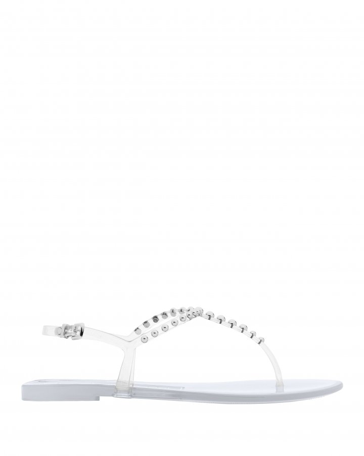 Studded Clear Jelly Sandals