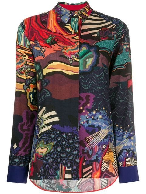 Paul Smith Abstract Print Shirt - Farfetch