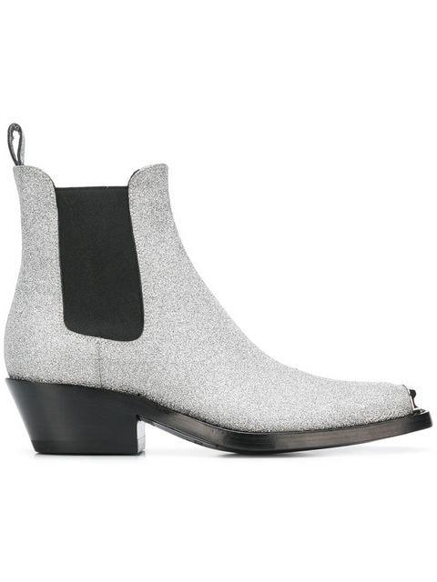 Calvin Klein 205W39nyc Glitter Western Boots - Farfetch