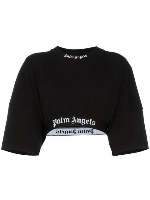 Palm Angels Cropped Jersey Sweater - Farfetch