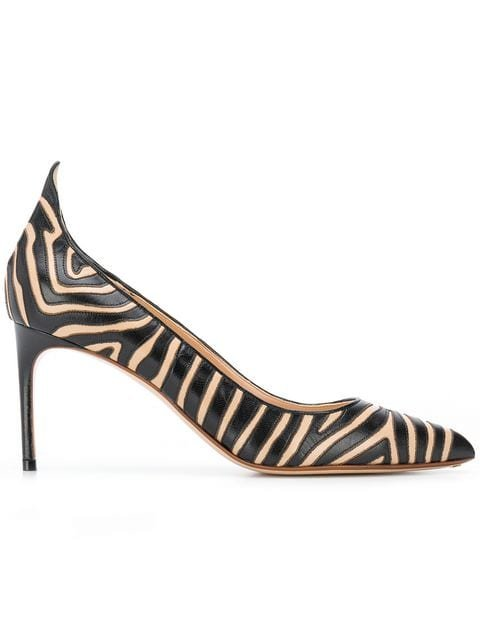 Francesco Russo Striped Pointed Pumps - Farfetch
