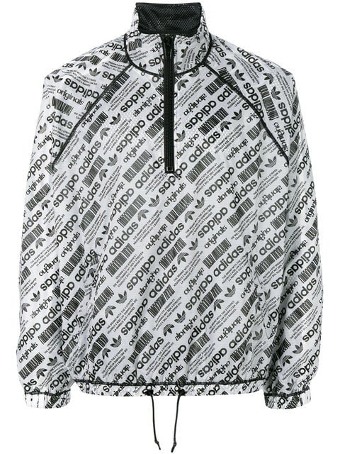 Adidas Originals By Alexander Wang Logo Print Windbreaker - Farfetch