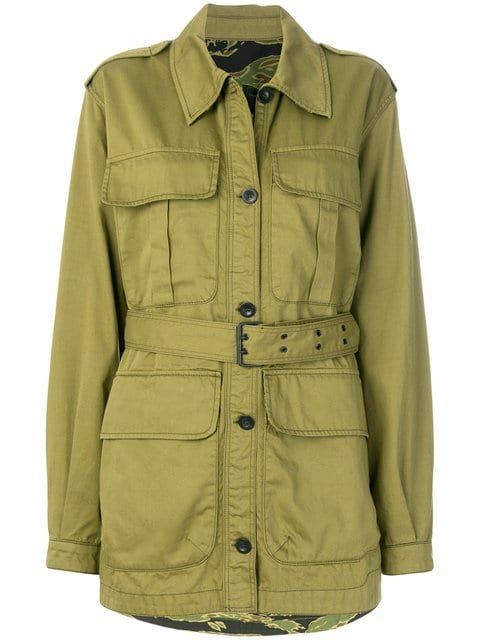 Mih Jeans Belted Military Jacket - Farfetch