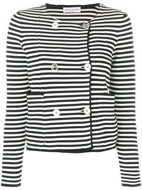 Sonia Rykiel Striped Fitted Jacket - Farfetch