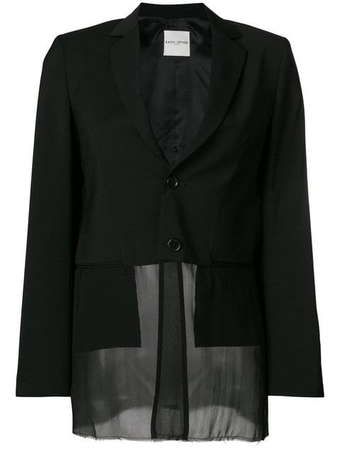 Each X Other Sheer Hem Fitted Blazer - Farfetch