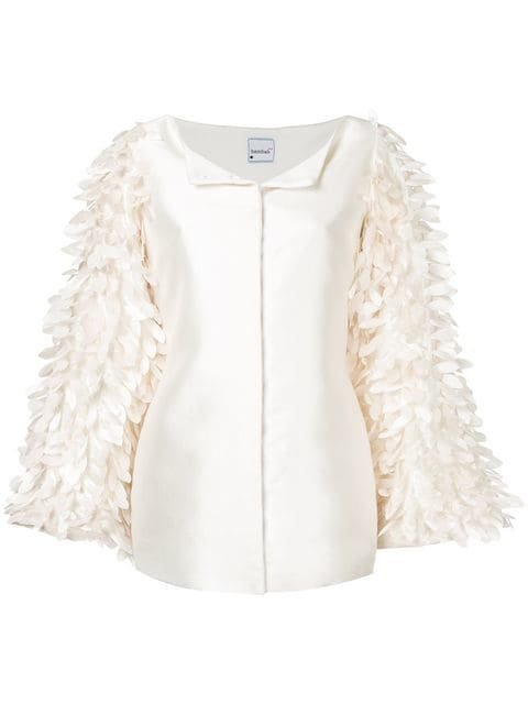 Bambah Pearl Feather Jacket - Farfetch