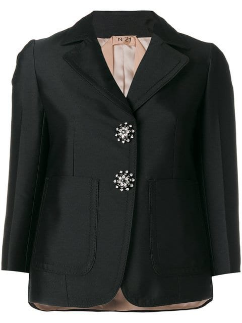 Nº21 Crystal Button Blazer - Farfetch