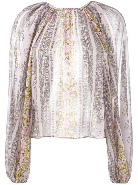 Giambattista Valli Printed Balloon-sleeved Blouse - Farfetch