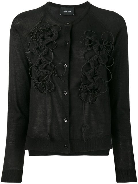 Simone Rocha Embroidered Cardigan - Farfetch