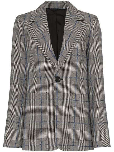 Joseph Annab Textured Check Wool Jacket - Farfetch