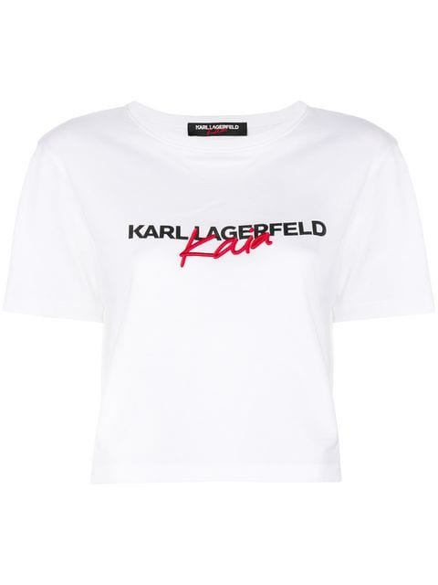 Karl Lagerfeld Karl X Kaia Cropped T-Shirt - Farfetch