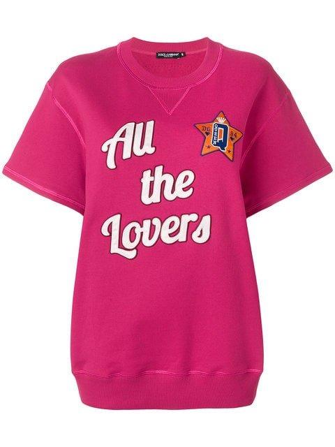 Dolce & Gabbana All The Lovers Short Sleeved Sweatshirt - Farfetch