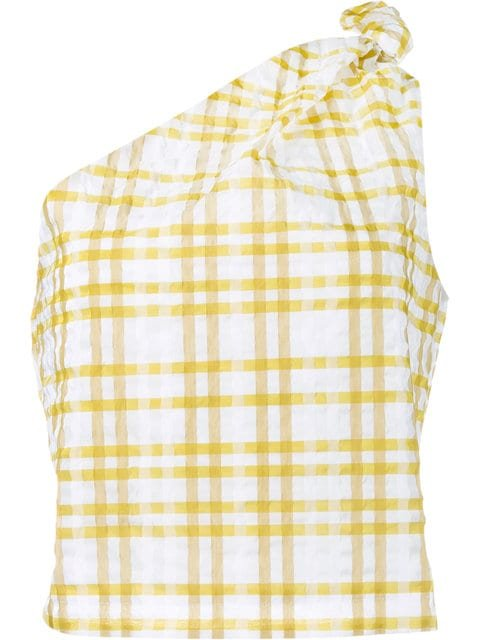Rosie Assoulin Checked On Shoulder Top - Farfetch