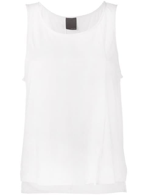 Lot78 Cashmere Side Split Sleeveless Top  - Farfetch