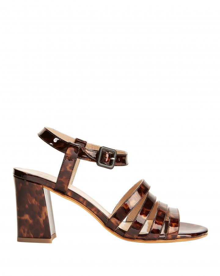 Palma Tortoise Patent Leather Sandals